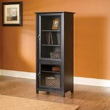 tall entertainment cabinet. Antiqued Media Storage Bookcase Tower Entertainment Cabinet Glass Tall To