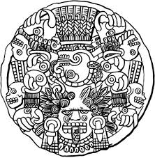 Small Picture Aztec God of Death Coloring Pages Bulk Color