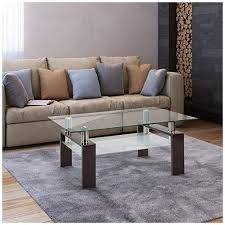 They're the place where you lay down the remote, put down your beverage, or prop up your feet after a long. Depointer Life Glass Coffee Table Rectangle Coffee Table For Living Room Modern Side Coffee Table With Lower Shelf