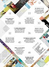 Table Of Contents Design Pinterest Tricky Ways To Create A Lively Magazines Table Of Content