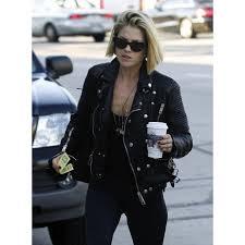 ali larter black quilted jacket ali larter leather jacket