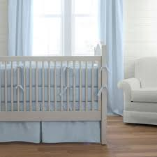 baby nursery excellent decorating ideas using rectangular white wooden cribs in blue comforter also with