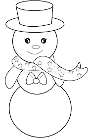 Small Picture Snowman Coloring Page Stock Illustration Image 52168699