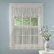 elegant white priscilla lace kitchen curtain pieces tiers swag tailored valances