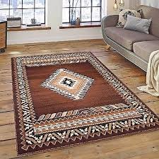 rugs area rugs carpets 8x10 rug large floor big southwestern cool brown new rugs
