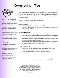 tips to write cover letters  template