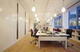 photos beautiful office. Beautiful Office Interior Designs In Modern Concept : Black Swivel Chairs Simple Chandeliers White Bookshelves Photos I