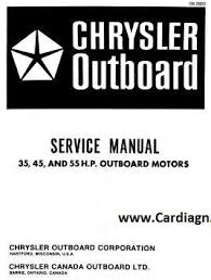 chrysler outboard 35 45 55 hp service repair manual pdf