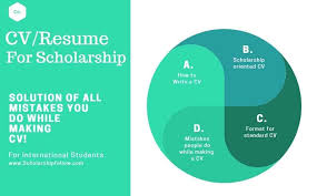 Writing An Impressive Cv For Scholarship Resume To Apply