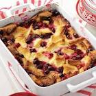 apple bread pudding with cranberries