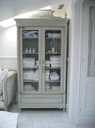 french country antique cabinet bathroom