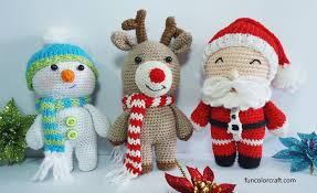 Free Christmas Crochet Patterns Custom Amigurumi Christmas Crochet Patterns Free Funcolor Craft