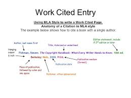 Work Cited How To Make A Work Cited Page 1 Students Will Review The