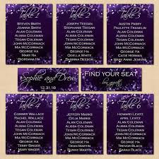 Color Purple Seating Chart Purple Night Sky Text Editable Seating Charts By