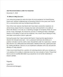 Sample Of A Letter Reference Business Recommendation For Academic ...