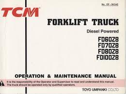tcm fd60 70 80 100z8 operation & maintenance manual machinetrack TCM Forklift Parts Diagrams tcm fd60 70 80 100z8 operation & maintenance manualback