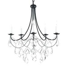 wrought iron crystal chandelier 5 light wrought iron and crystal chandelier