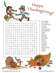 Thanksgiving Word Search Can You Find All 20 Thanksgiving