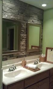 bathroom backsplash ideas stone. airstone stone accent wall in bathroom. lowes had this demo the would look good behind a sunken jetted tub and white boards vaniety bathroom backsplash ideas r