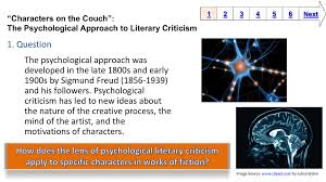 Psychological Criticism 1 Question The Psychological Approach Was 1900s By Sigmund Freud
