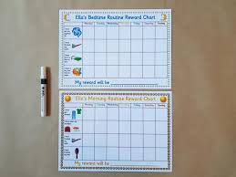 Morning And Bedtime Routine Reward Charts Reusable Reward Charts Good Behaviour Daily Routine Pre School Toddlers Eyfs Sen Autism