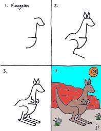 dessin pas à pas du kangourou
