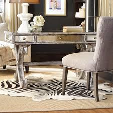 Hooker Furniture Mirrored X Base Writing Desk