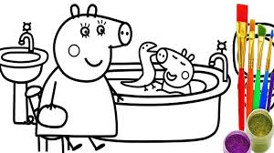 Small Picture How to Draw Peppa Pig Coloring Pages Kid Drawing Learn Colors