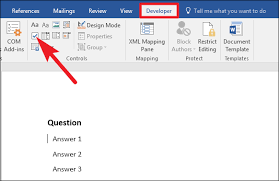 How To Add Check Boxes to Word Documents