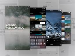 photo editing app ui and wireframe
