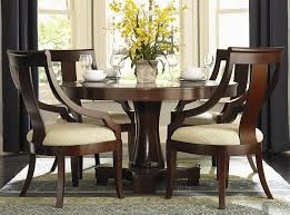 round pedestal dining room set in view larger