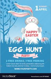Easter Egg Hunt Flyer Template Royalty Free Vector Image