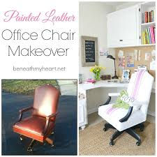 office chair makeover. Painted Leather Office Chair Makeover M