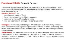 effective cv   resume writing       functional   skills résumé