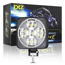 46W Đèn LED Làm Đèn Vuông Mini LED Siêu Sáng Ánh Sáng Ban Ngày 23LED Trắng  Ánh Sáng Vàng Cho Ô Tô Xe Máy Xe Tải xe Accessorie Thanh Đèn/Đèn Làm Việc