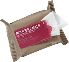 korres pomegranate cleansing makeup removing wipes banishes dirt makeup and oil from face and