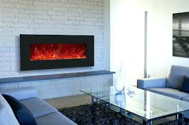 led wall mount fireplace thin electric 55 built in insert