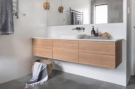 Light Oak Bathroom Furniture Red Lily Renovations Bathroom Wood Vanity Vanity In Laminex