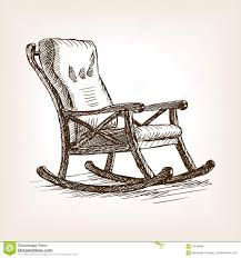 Rocking chair drawing Easy Rocking Chair Sketch Style Vector Illustration Dreamstimecom Rocking Chair Sketch Style Vector Illustration Stock Vector