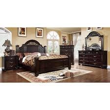 Furniture of America Grande 4 Piece Dark Walnut Bedroom Set bc5 07d7 4fad 912a 9ba5ebd37f9e 600