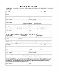 Sample Firearm Bill Of Sale 6 Documents In Pdf