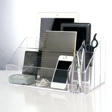 office desks with storage acrylic clear desktop electronic organizer holder desk for your drawers