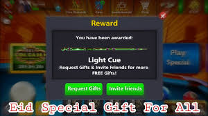 Light Cue 8 Ball Pool Get Free Light Cue Eid Special Gift By 8 Ball Pool