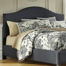 kingcalifornia king upholstered headboard in dark gray with