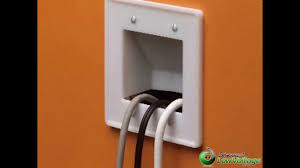 Hide Tv In Wall Hide Tv Cables In Wall Clean Organized Look Youtube