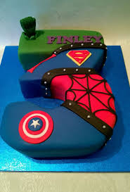 Superhero Cake Design Number 3 Shaped Superhero Cake Superhero Birthday Cake