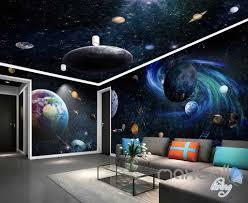 image is loading 3d galaxy solar system entire room wallpaper wall  on solar system 3d wall art with 3d galaxy solar system entire room wallpaper wall murals art prints