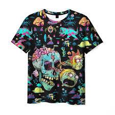 Monsters <b>Rick</b> and Morty Мужская <b>футболка</b> 3D с <b>принтом</b> за 1070 ...