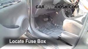 interior fuse box location 2008 2014 scion xd 2008 scion xd 1 8 locate interior fuse box and remove cover