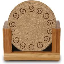 thirstystone ambiance upright bamboo holder for square or round drink coasters com